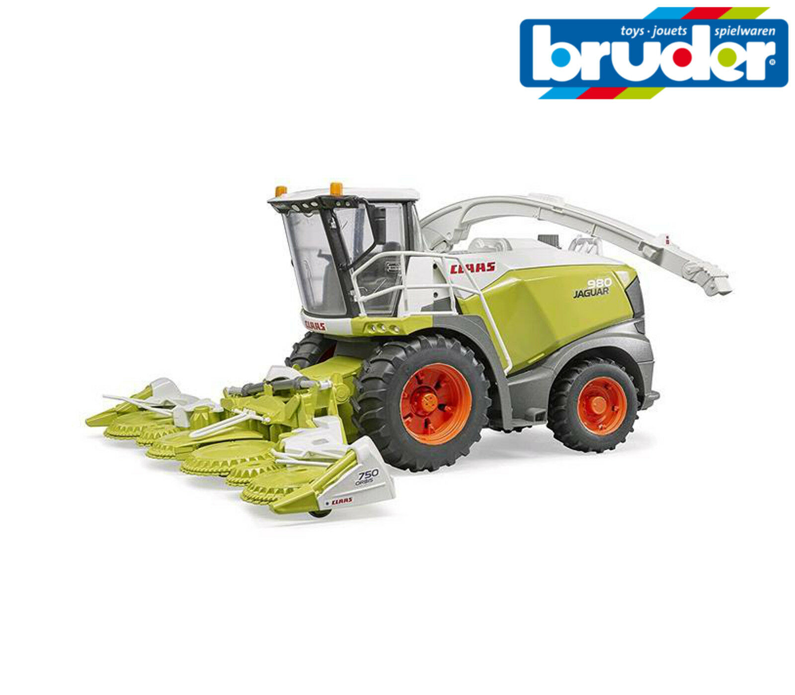 Bruder Toys Toys Toys 02134 Claas Jaguar 980 Forage Harvester Working Steering 1 16Scale ad3ffe