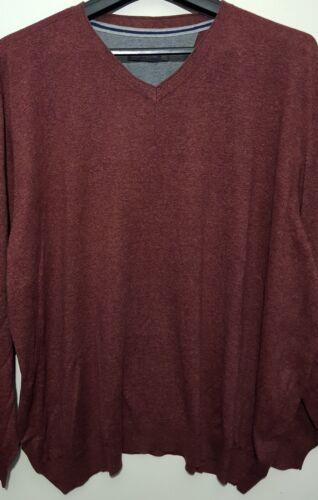 Men`s New John Rocha Designer Pure Cotton V-Neck Jumper Sizes S to 4XL Sweater