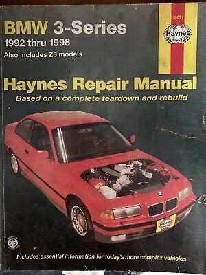 bmw 3 series haynes repair shop manual 1992 1998 including z3 ebay ebay