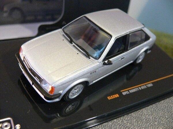 1 43 Ixo Opel Kadett D D D GT E 1983 silber CLC268  | Gutes Design  d063f1
