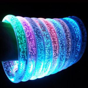Lights & Lighting 10pcs Led Flashing Bracelet Light Up Acrylic Wristband Party Bar Christmas Luminous Bracelet Luminous Toys For Children