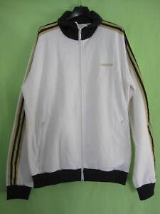 Détails sur Veste Adidas Originals Blanche et Or Jacket Homme style vintage XL