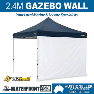 Oztrail-2-4m-Gazebo-Solid-Wall-White-Deluxe-Marquee-Side-Walls-Canopy