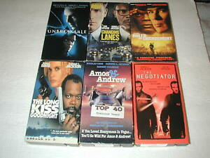 SAMUEL-L-JACKSON-MOVIES-6-PACK-VHS-MOVIE-LOT-RARE-OOP-HTF