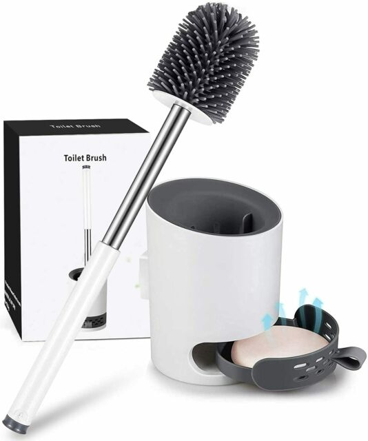 Klobürste WC Bürste Klobürstenhalter Garnitur Toilettenbürste Stand Silikon DE