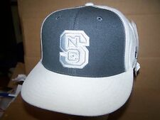 NORTH CAROLINA STATE WOLFPACK FITTED.- HAT/CAP-AMERICAN NEEDLE-WHITE/GREY/SILVER