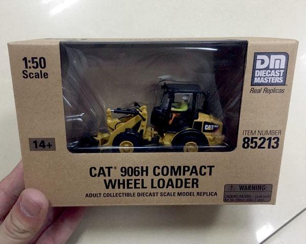 Diecast maestros-Cat 906H Compacto Cochegador De Rueda-Escala 1 50 - Ref 85213