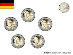 5 Ateliers 2 Euros Commémorative Allemagne 2018 Helmut Schmidt UNC