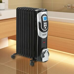 2000 watt l radiator heizung elektrisch heizk rper 9 rippen bad badezimmer ebay. Black Bedroom Furniture Sets. Home Design Ideas