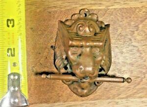 Old Rare Gargoyle Head Clock Handle  (KA459)