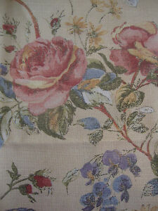 250cm SANDERSON Rosetta vintage shabby chic linen upholstery fabric remnant - <span itemprop='availableAtOrFrom'>Carnforth, United Kingdom</span> - 100% satisfaction guaranteed - if for any reason you wish to return the item, please advise me within 7 days of reciept. I will refund the full cost of the item, less any postage costs  - Carnforth, United Kingdom
