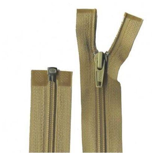 55cm Beige Open End Zip