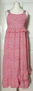 Marks/&Spencer Kids Red Mix Ruffled Maxi Dress Size 14-15 /& 15-16 Years BNWT