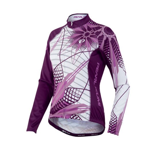 Pearl Izumi Womens Elite Thermal LTD Cycling Jersey - Flower Meadow Mauve - L