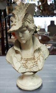 Late-19th-Century-After-Paul-Duboy-Lady-in-Plumed-Hat-Cast-Iron-Bust-France