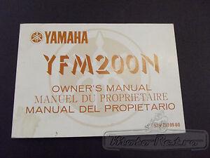 Yamaha-YFM200-YFM200N-YFM-200-N-1985-Genuine-Owners-Handbook-Manual