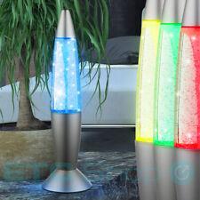 LED Tischleuchte Wohnzimmer Dekoration Lavalampe Effektbeleuchtung Stehlampe