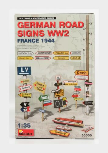 Accessories Segnali Stradali German Road Signs 1944 Kit MINIART 1:35 MA35600