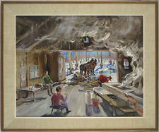 Otto N. Grebze (1910-1999) Latvian/Canadian Listed Maple Syrup Oil/Canvas qqoo