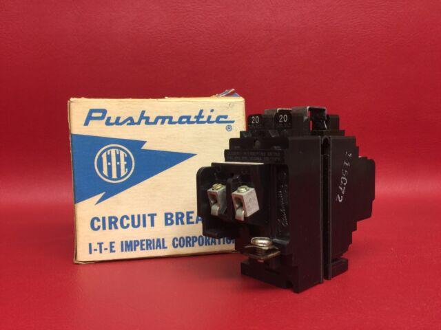 ite siemens pushmatic p  pole circuit breaker  sale  ebay