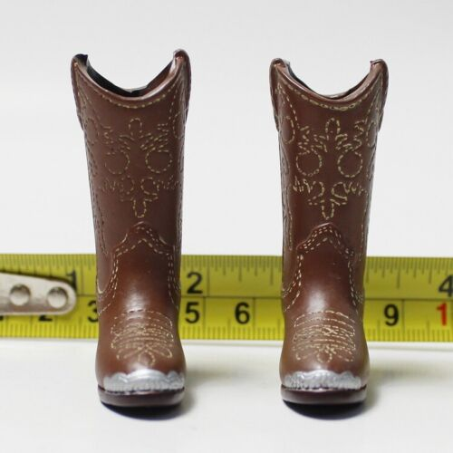 "1:6th Accessory Brown Western Cowgirl Boots Model For 12"" Female Figure Doll"