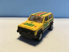 Diecast Matchbox Jeep Cherokee 1986 1/58 Yellow Wear & Tear Good Condition