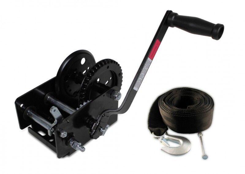 Trailerwinde 900 kg + Trailerwindengurt 6,0 m Set Trailer Winde Gurt LID19568