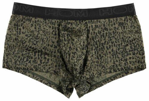 HOM Pablo Trunk mens underwear boxer brief male maxi short khaki gold leopard
