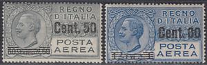 Italy-Regno-1927-Posta-Aerea-Air-Mail-n-8-9-cv-300-MNH