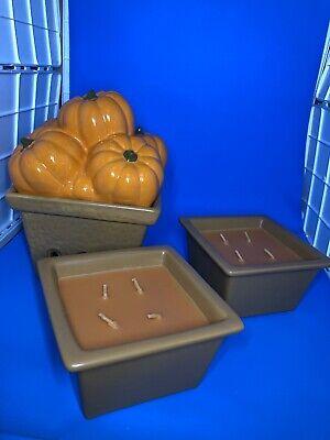 2 HomeWorx by Harry Slatkin Ceramic Pumpkin Basket with 9-oz Candles RTL$44