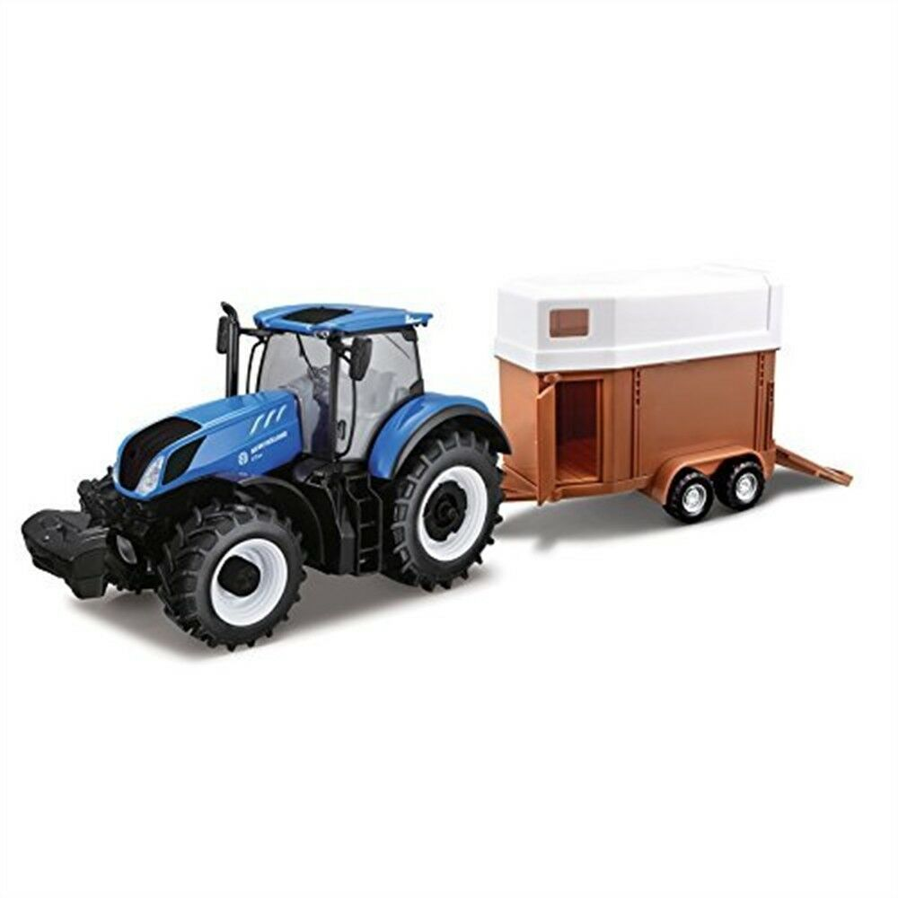 Bburago B18-44069 1 32 New Holland T7hd Tractor With Horse Trailer