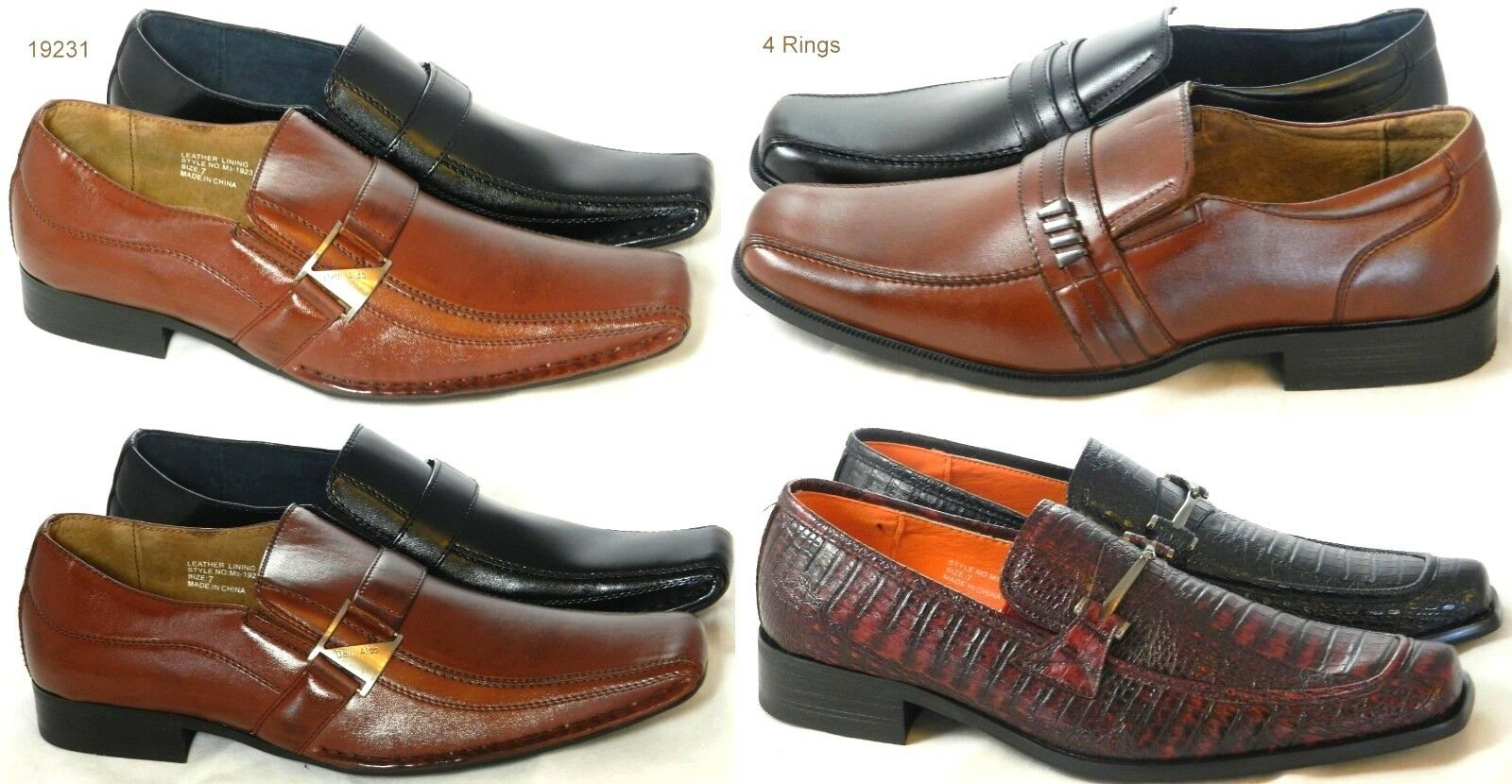 Father's Day Gift Slip on Loafers Dressy Shoes Buckle Long Tapered Front Shoes Dressy Sz 7-12 a4142f