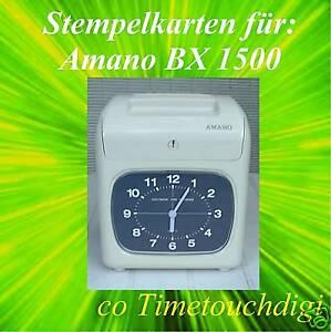 Stempelkarten für AMANO BX 1500