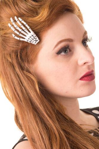Banned skeleton hair clip
