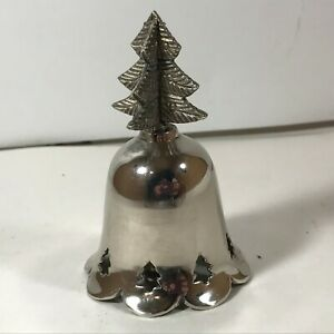 Vintage Silver Color Christmas Tree Top Bell Made in India