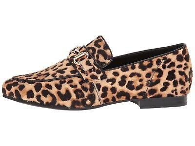 4cc15eb5fe2 Steve Madden KERRY-L Calf Hair Horsebit Slip On Dress Loafers Leopard