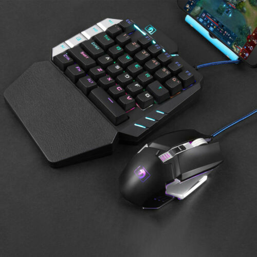 Mini USB 35 Keys Mechanical Single One Hand Mechanical Gaming Keyboard Gamer USA