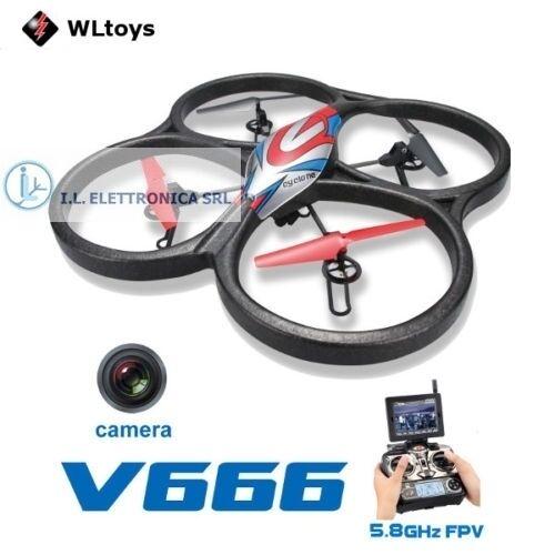 DRONE VLTOYS 666 CON MONITOR 6 ASSI E CAMERA HD + FPV   29072
