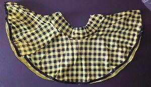 NEW DANCE COSTUME country western circle skirt yellow black check girls Wolff