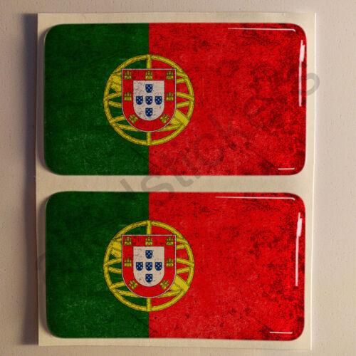 Aufkleber Portugal Dreckig Gesprenkelt Flagge 3D Fahne Auto Sticker