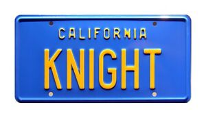 Knight-Rider-039-82-Trans-Am-KITT-KNIGHT-STAMPED-Replica-Prop-License-Plate