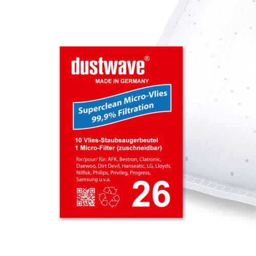 1-60 MICROVLIES Staubsaugerbeutel für Dirt Devil M 7020-5 7020-8
