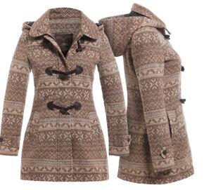 47334723b05f New Womens Wool Coat Ladies Duffle Winter Jacket Size 8 10 12 14 16 ...