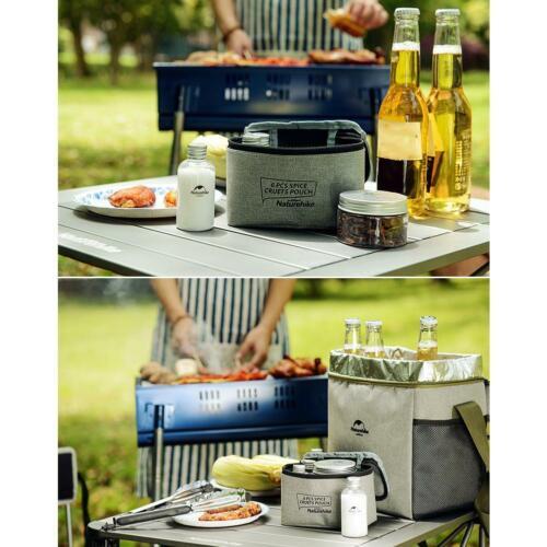 7pcs Portable Spice Cruets Seasoning Jar Pouch Camping BBQ Picnic Organizer