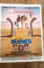 WEEKEND AT BERNIES UK Film Press ADVERT 11x8 inches -  Andrew McCarthy
