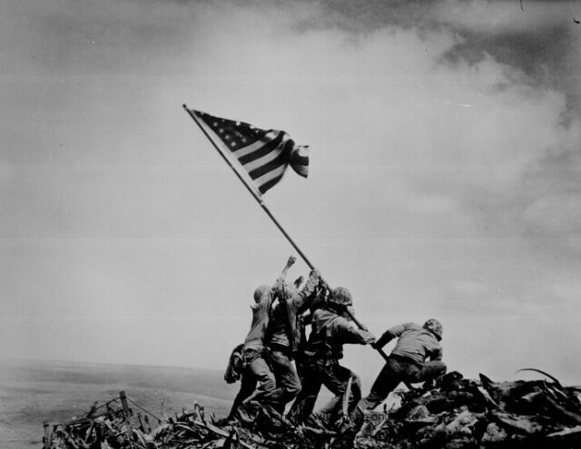"Marines Raising the Flag over Iwo Jima 8""x 10"" World War II Photo WW2 Picture #9"