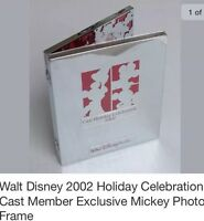 Walt Disney 2002 Holiday Celebration Cast Member Exclusive Mickey Photo Frame