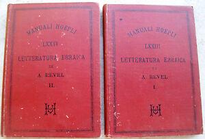 1888-LOTTO-DI-DUE-MANUALI-HOEPLI-039-LETTERATURA-EBRAICA-039-PRIME-EDIZIONI-RARE