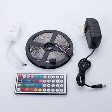 5M/16.4Ft 300 LED SMD 3528 RGB IR44 Light Strip with IR Remote w/ Power Sup