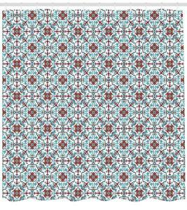 Image Is Loading Ornate Vintage Pattern Shower Curtain Fabric Decor Set